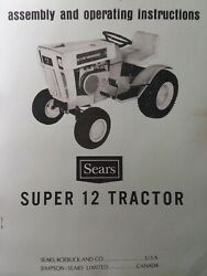 Sears Ss-12 Lawn Garden Tractor And Engine Owner And Parts 3 Manual S 917.25510