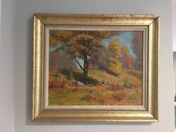 1930 Fred H. Daniels Wellesley Andldquooctober Colorandrdquo Original Oil Painting