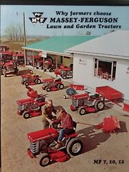 Massey Ferguson Mf 7 10 12 Lawn Garden Tractor And Implements Color Sales Brochure