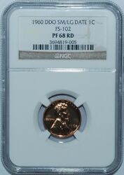 1960 Ngc Pr68rd Doubled Double Die Obverse Fs-102 Sm/lg Date Lincoln Cent Penny