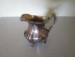 Vintage Epca Lancaster Rose By Poole 400 Silver Plate Footed Creamer