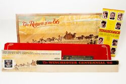 Winchester Stagecoach Norman Rockwell Poster Sale Die Cut Store Display Ad 45