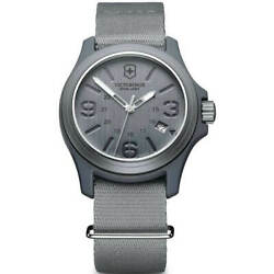 Victorinox Swiss Army Menand039s Watch Grey Dial Nylon Strap 241515 - Official Dealer