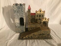 Antique Wooden Castle Playset 1930s Germany