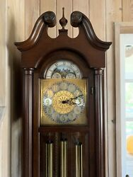 COLONIAL Cherry Small Grandfather Hall Clock 708843 49464