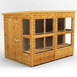 Power Pent Potting Shed | Power Sheds | Wooden Greenhouse | Sizes 6x6 To 20x6