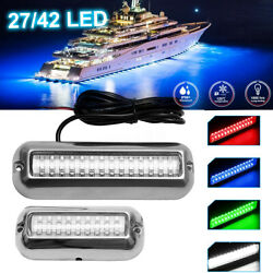 27/42 Led Underwater Boat Marine Transom Lights 316 Stainless Steel Pontoon 12v