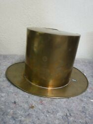 Vintage Large Brass Top Hat-great For Display-wine/champagne/ice Bucket/spitoon