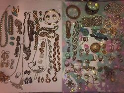 HighLo End Costume Jewelry 14k Gold PEARLS Coro Trifari Weiss Napier Monet LOT