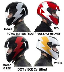 Royal Enfield Bolt Full Face Motorcycle Helmet Dot / Ece Approved 4 Options