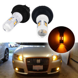 Amber Ph24wy Led Bulbs Front Turn Signal Lights For 2009-2013 Cadillac Cts Etc