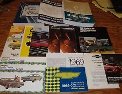1969 Chevrolet Chevelle Shop Service Manual Owners Assembly Brochures Lot Of 16