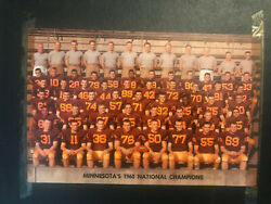 Minnesota Golden Gophers 1960 National Championship Scrapbook with NFL Hall of F