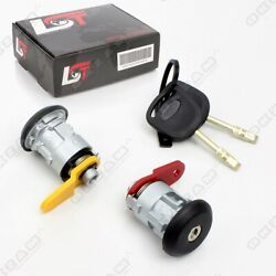 Door Lock Set + 2 Keys Front Right-left Replacement For Ford Escort 7 Vii