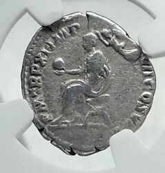 Commodus The Gladiator Emperor Ancient Silver 186ad Rome Roman Coin Ngc I81286