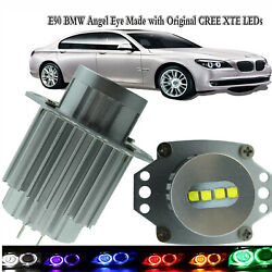 Fit For Bmw 3 Series E90 2 X Angel Eye Made With Original 40w Cree Xte Leds