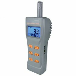 6 In 1 Co2 And Co Meter Temperature Humidity Datalogger Rh Dpt Wbt Digital Tester