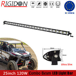 25in 120w Single Row Led Light Bar For Jeep 4x4wd Offroad Suv Utv Driving Lamp