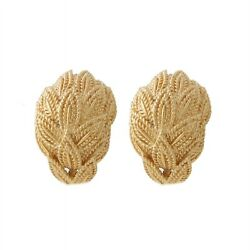 And Co. Vintage Half Hoop Earrings 18k Matte Yellow Gold Clips
