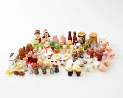 35 Sets Of Collectible Salt And Pepper Shakers Ceramic Advertisement Japanese +