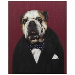 Empire Art Direct Pets Rock Leader Graphic Wrapped Dog Canvas Wall Art 2... New