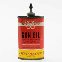 Vintage Red Yellow Tin Can Of Winchester 'w' Gun Oil 3 Fluid Ounces 80 Full