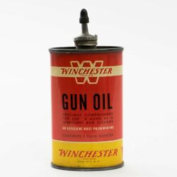 Vintage Red Yellow Tin Can Of Winchester 'w' Gun Oil 3 Fluid Ounces Size Empty