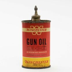 Vintage Red Yellow Can Of Winchester 'w' Gun Oil 3 Fluid Ounces Size 10 Full