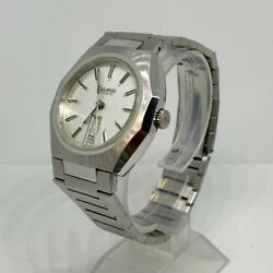 Vintage Bulova Classic Automatic Day Date Octagon Case Silver Dial Mens Watch