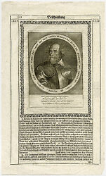 Antique Print-henry Count Of Bergh-military Commander-bergen Op Zoom-merian-1633