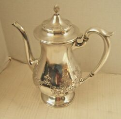 M Fred Hirsch Sterling Silver Coffee Pot Chased Design Work
