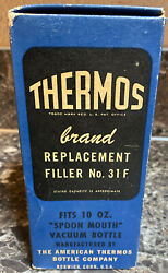 Thermos Replacement Filler No. 31f Spoon Mouth Vacuum Bottle New Old Stock