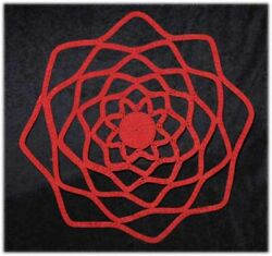 Red Lace Handmade Coiled Zulu Telephone Wire Plate/basket 2 - 14 Diameter