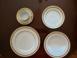Christian Dior China Dining Set Gaudron White And Gold - Excellent Condition