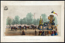 Antique Print-brussels-festival Float-arms-weapons-leopold I-belgium-toovey-1856