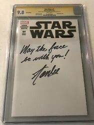 STAR WARS #1 CGC 9.8 STAN LEE SIGNED AND INSCRIBED