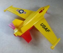 Rare Timmee Toy Usaf Jet 6351 Processed Plastic Co