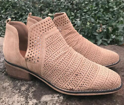 Dept 222 Womens Dulce Tan Beige Ankle Booties Size 9 Laser Cut Out Design