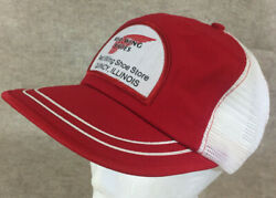 Vtg Red Wing Shoes Store Quincy Illinois Patch Snapback Mesh Trucker Hat