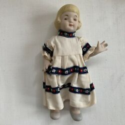 Vintage Bisque Ceramic Jointed Doll Japan