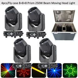 4pcs/case Full Color 250w Moving Head Light 8+8+8 Prism 0-100 Linear Dimming