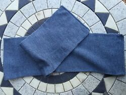 X6. New vintage Swedish blue grey wool scarfs  hats military surplus clothing
