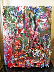 Musk Yai Abstract Signed Original 16x20 2018 Canvas Painting The Spectre