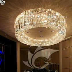 Luxury Villa living room round crystal lamp hall lamp hotel project lighting