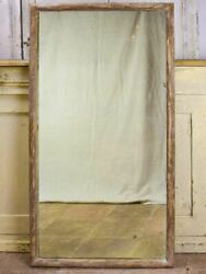 Antique Rustic French Mirror With Simple Timber Frame 1/2. 26½ X 49½