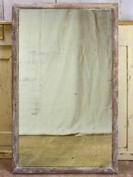 Antique Rustic French Mirror With Simple Timber Frame 2/2. 26¾ X 43¼