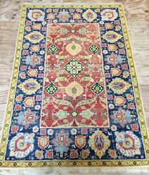 Vintage Beautiful North Indian Hand Woven Carpet