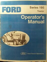 Ford 195 Lawn Garden Compact Tractor Owners Manual Jacobsen Hd 19.9 H.p Lgt