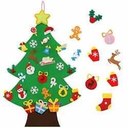 TOBEHIGHER Felt Christmas Tree - 3.6 FT 3D DIY Set for Kids with 33 Pieces of