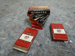 28 Thin Vintage Gillette Blades In Boxes-5 New, 2 Opened